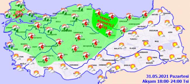 İstanbul'da kuvvetli sağanak bekleniyor