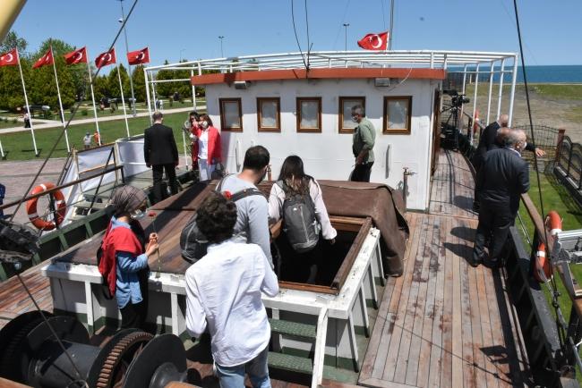 Samsun'da Bandırma Gemi Müzesi ve Milli Mücadele Açık Hava Müzesi'ne yoğun ilgi