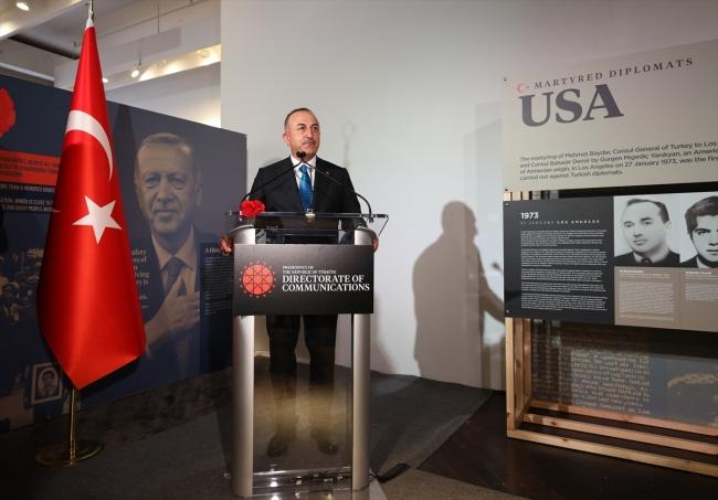 Şehit Diplomatlar Sergisi, Bakan Çavuşoğlu'nun katılımıyla açıldı