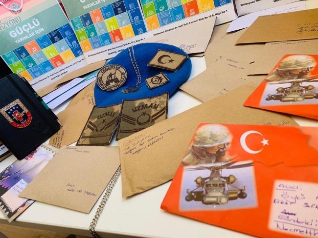 Mehmetçikten moral mektubu gönderen öğrencilere teşekkür