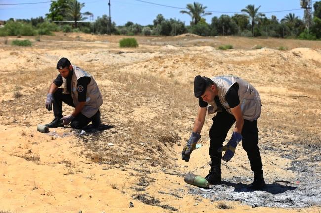 İsrail'in Gazze'ye attığı patlamamış mühimmatlar imha edildi