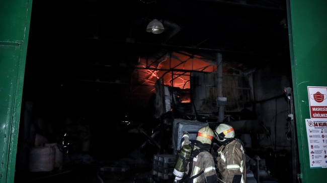 Bursa'da fabrika yangını