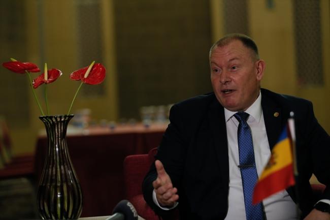 Moldova Dışişleri ve Avrupa Entegrasyonu Bakanı Aureliu Ciocoi   Fotoğraf: AA