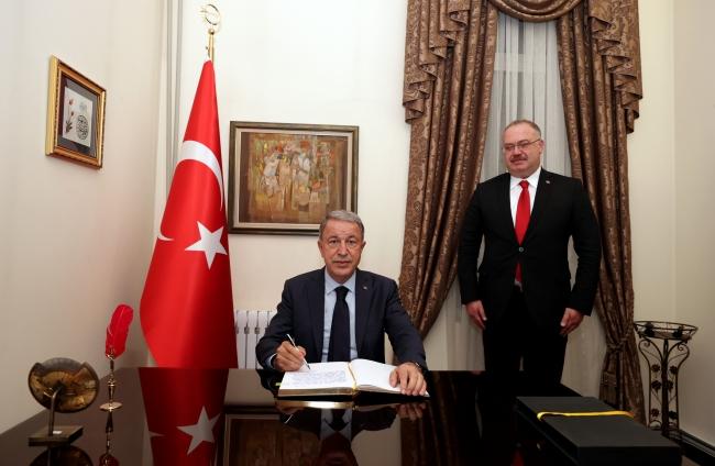 Bakan Akar, Türkiye'nin Bişkek Büyükelçiliğini ziyaret etti