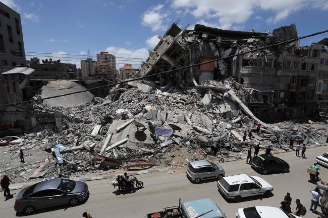 İsrail'in Gazze'deki yıkımı havadan görüntülendi