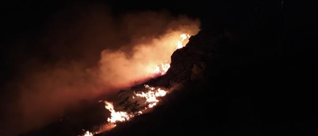 Elazığ'daki örtü yangını yeniden alevlendi