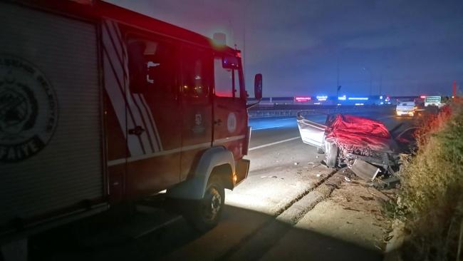 Anadolu Otoyolu'nda kaza: 4 yaralı