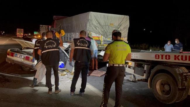 Adana'da feci kaza: 1 ölü, 3 yaralı