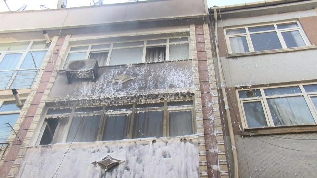 Fire in 4-storey building in Fatih