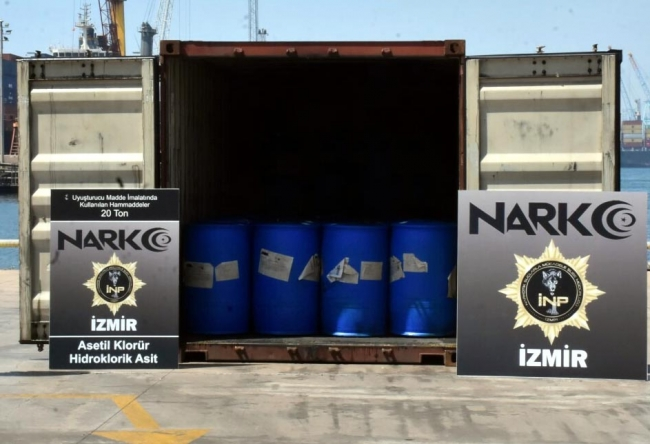İzmir'de dev uyuşturucu operasyonu: 26 ton malzeme ele geçirildi