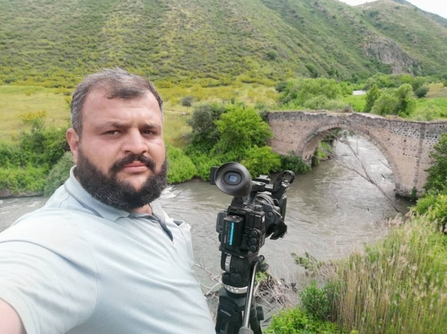 AZTV kameramanı Sirac Abishov