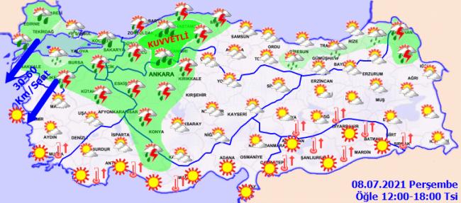 Meteoroloji'den 9 il için sağanak uyarısı