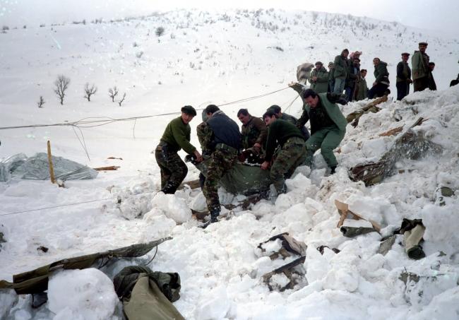 1992'de Şırnak'ta Jandarma Bölük Komutanlığına Çığ düşmesi sonucu 91 asker şehit oldu.
