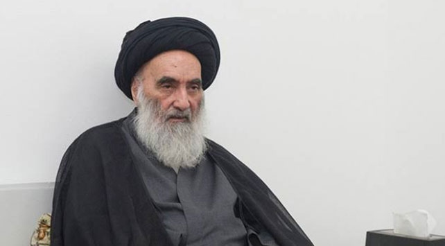 Irak'ta Şii dini merci Ayetullah Sistani. Fotoğraf: AA