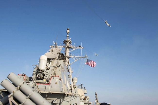 Şubat ayında Rus savaş uçağı ABD destroyeri üzerinde alçak uçuş yaptı. Fotoğraf: Reuters