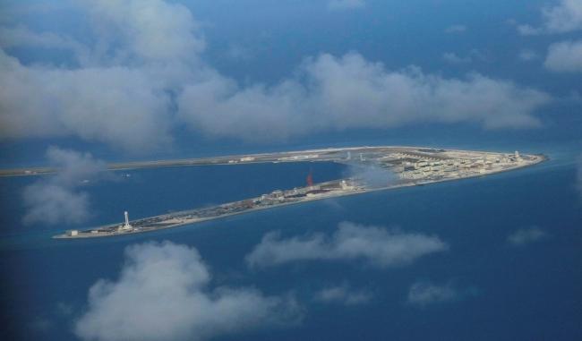 Spratly Adaları'ndaki Subi Resifi (Fotoğraf: Reuters)