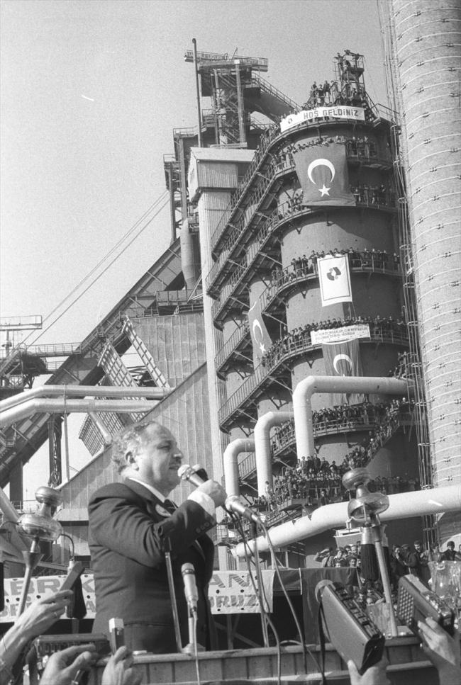 [İskenderun Demir Çelik Tesisleri, 21 Ocak 1977 - Fotoğraf: AA]