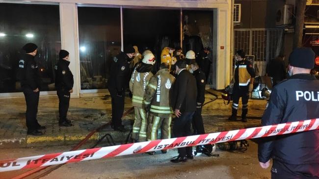 Maltepe'de iş yerinde yangın: 1 kişi öldü