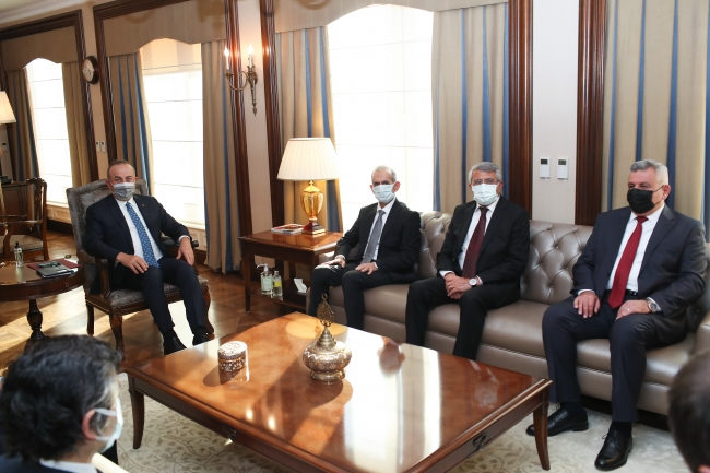Dışişleri Bakanı Çavuşoğlu Irak Türkmen Cephesi Başkanı ile görüştü