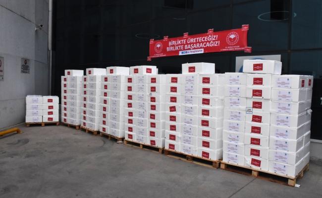 Muğla'da sağlık çalışanlarına 20 ton balık dağıtıldı