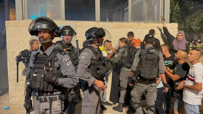 İsrail polisi Filistinlilere plastik mermiyle saldırdı