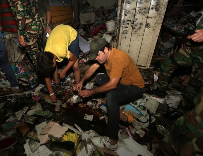 Bağdat'ta pazar yerinde patlama: 33 ölü, 61 yaralı