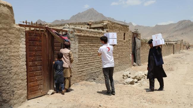 Türk Kızılay Afganistan'da binlerce aileye kurban eti dağıttı