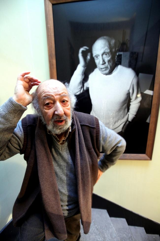 Picasso ve Ara Güler / Fotoğraf: AA
