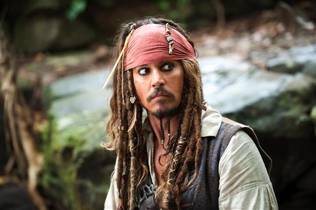 Karayip Korsanları film serisinde Johnny Depp tarafından canlandırılan kurgusal karaker Jack Sparrow (Fotoğraf: AP)