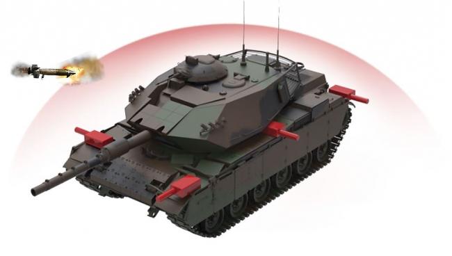 AKKOR, yaklaşan anti tank roketleri ve füzeleri belirleyerek havada imha edecek.