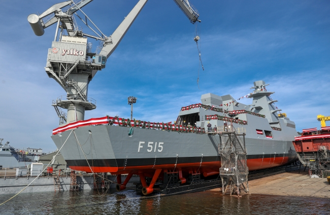MİLGEM Projesi'nin 5'inci gemisi İstanbul (F-515) Fırkateyni. Foto: AA