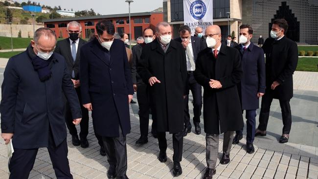 Erdoğan, Marmara Üniversitesi'ndeki Külliye inşaatını inceledi