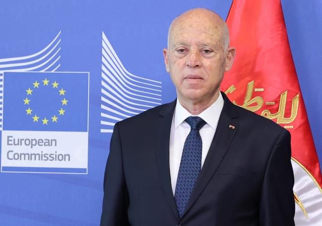 Tunus Cumhurbaşkanı Kays Said, ulusal siyasi diyalog çağrılarına uzun aylar boyunca yanaşmadı. Fotoğraf: AA