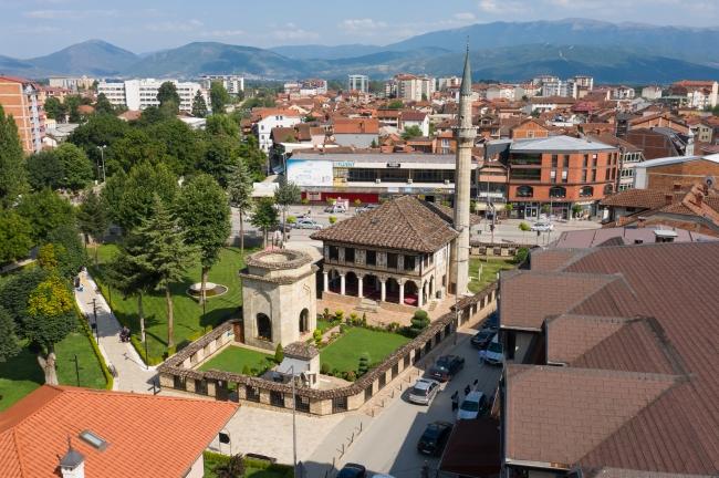 Kuzey Makedonya'nın Kalkandelen (Tetovo) şehrindeki Osmanlı mirası Alaca Cami   Fotoğraf: AA