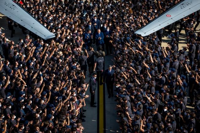 Akıncı, Cumhurbaşkanı Erdoğan ve çok sayıda özel davetlinin katıldığı törenle TSK'ya teslim edildi.