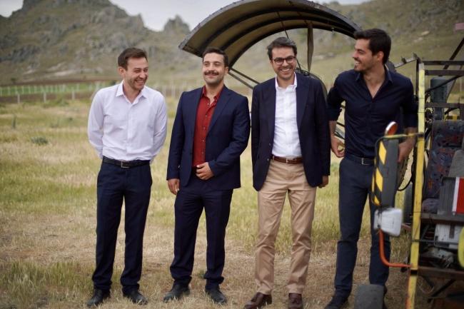 TRT Genel Müdürü Eren Gönül Dağı setini ziyaret etti