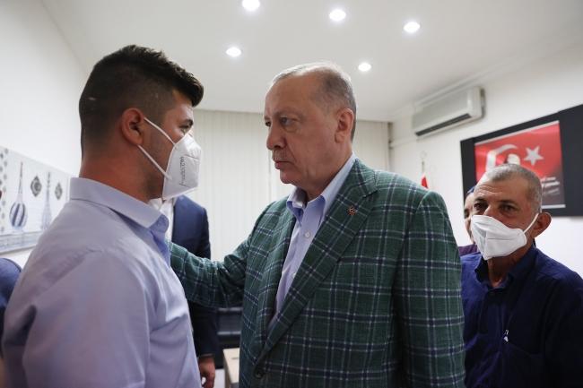 Cumhurbaşkanı Erdoğan'dan Şahin'in ailesine taziye ziyareti