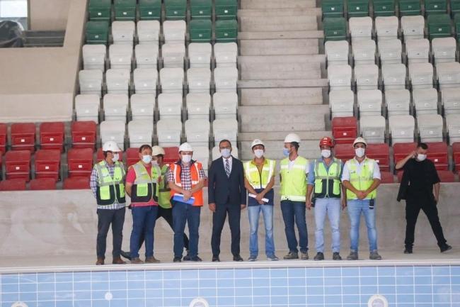 Bakan Kasapoğlu Çotanak Spor Kompleksi'nde incelemelerde bulundu