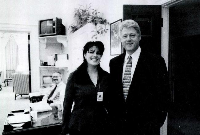 Monica Lewinsky ve Bill Clinton. Fotoğraf: Getty