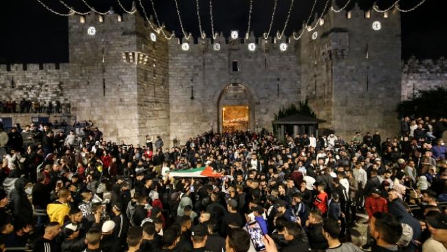Filistin bayrağı açan gruba İsrail polisi müdahale etti