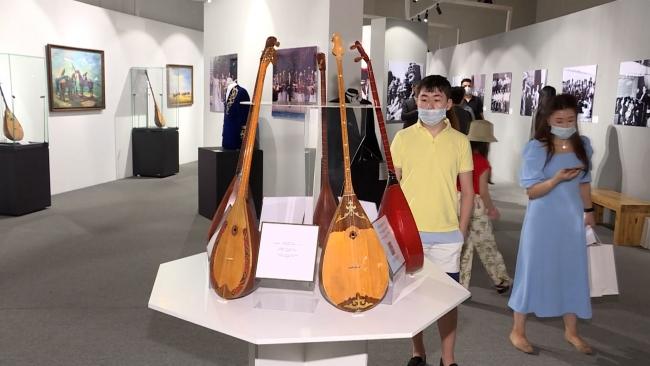 """Kazakistan Milli Müze'sinde """"Ulu Bozkırda Dombıra Sesi"""" sergisi"""