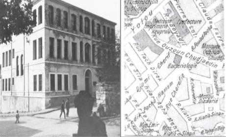 Bakteriyolojihane-i Osmani'nin Çemberlitaş binası (1913) ve konumu