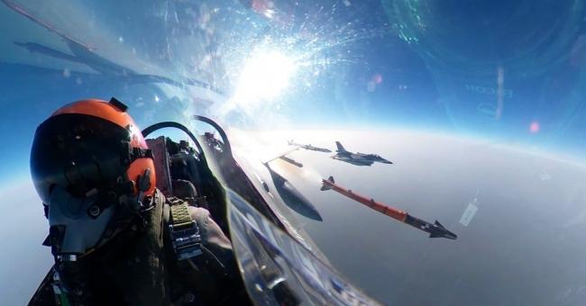Bozdoğan atış anı uçak içi görüntüsü.