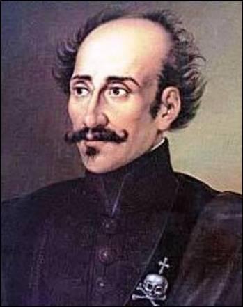 Yakasında taşıdığı alametiyle isyancı lider Aleksandr İpsilanti