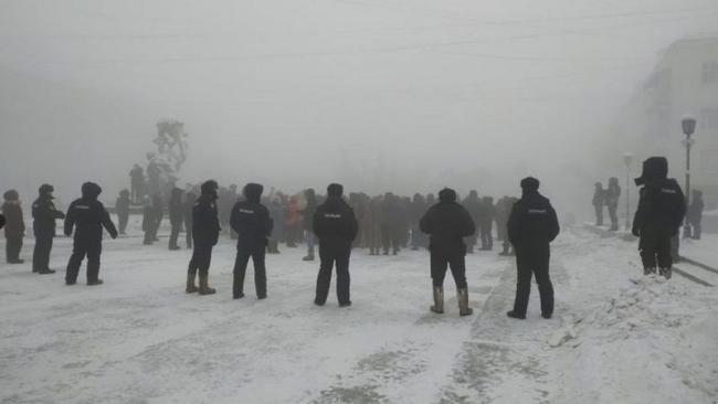 Rusya'nın Yakutsk şehrinde protestolar | Fotoğraf: Reuters