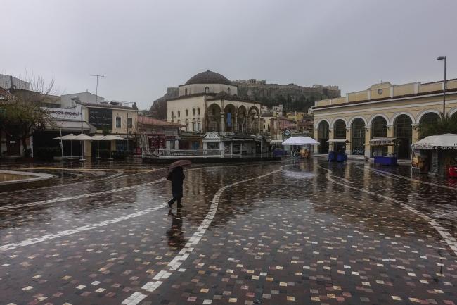Yunanistan'ın başkenti Atina hayalet kente döndü. | Fotoğraf: AA
