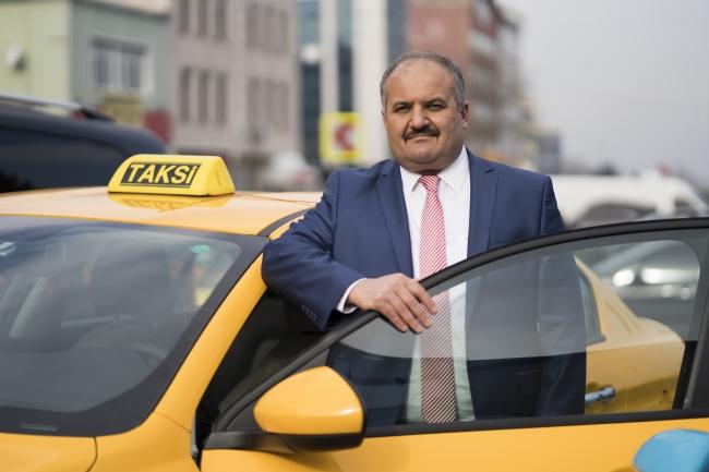 İstanbul Taksiciler Esnaf Odası Başkanı Eyüp Aksu. Foto: AA