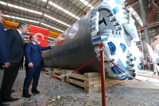 Yerli tünel açma makinesi 18 Eylül 2019'da üretim bandından indirildi / Fotoğraf: AA