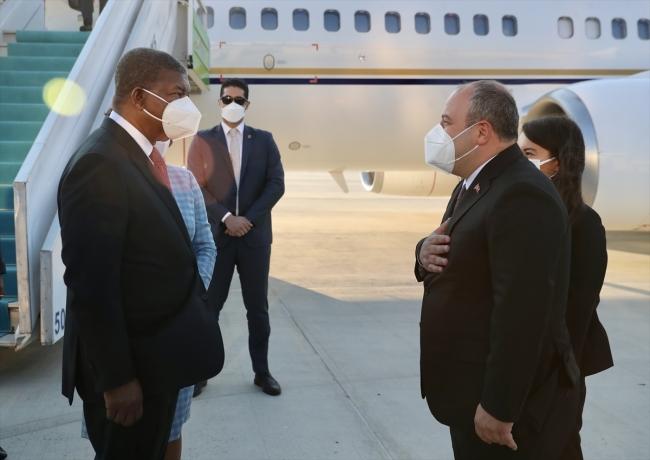 Angola Cumhurbaşkanı Lourenço Ankara'da