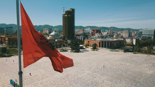 Arnavutluk'un başkenti Tiran. Fotoğraf: AA